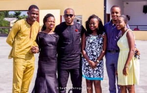 The proposal team before take off from Apapa Mall