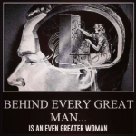 Behind every successful man…
